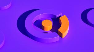 Celero 互联网紫色和橙色电信品牌设计-logo设计vi形象设计