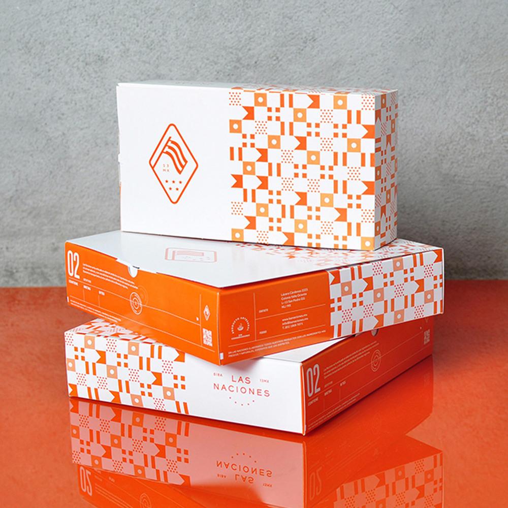 4.Las Naciones 餐厅品牌形象设计与三明治面包食材食品店包装设计欣赏-上海品牌设计公司