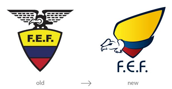 1.上海品牌设计公司设计分享——厄瓜多尔FEE足球俱乐部队徽品牌标志优化设计-尚略广告品牌策划营销策划公司品牌设计公司