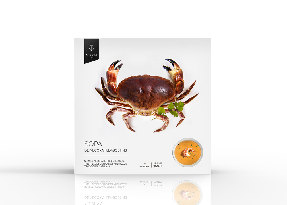 Ancora Gold冷冻海鲜食品包装设计-尚略包装设计公司