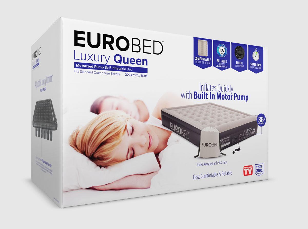 上海包装设计公司设计分享——EuroBed 空气(充气)床垫包装设计1