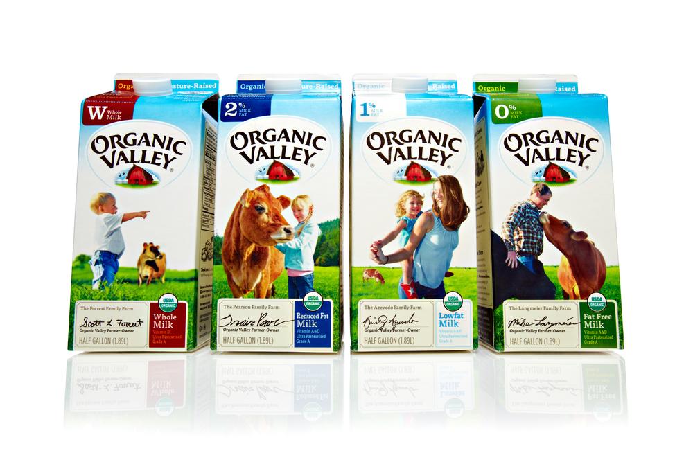 国外Organic Valley牛奶包装设计欣赏1