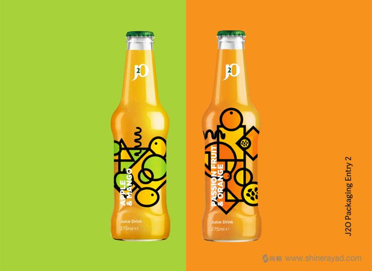 J2O 几何抽象图形果汁饮料包装fun88乐天使备用-上海饮料包装fun88乐天使备用公司fun88乐天使备用欣赏1