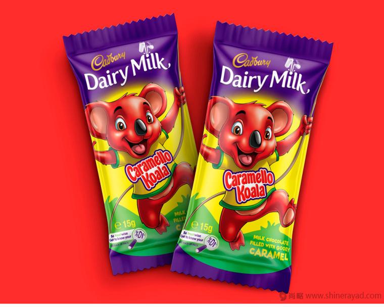 吉百利考拉熊卡通形象吉祥物设计牛奶巧克力儿童糖果包装设计-上海包装设计公司3