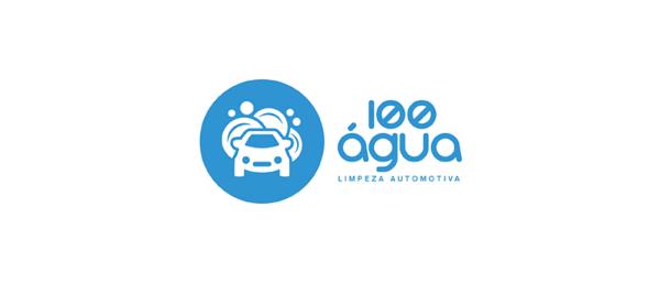 100agua汽车清洗养护品公司品牌logo VI设计 尚略广告上海品牌设计公高清图片