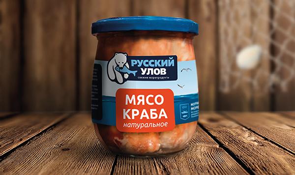 俄罗斯русская海鲜产品包装设计