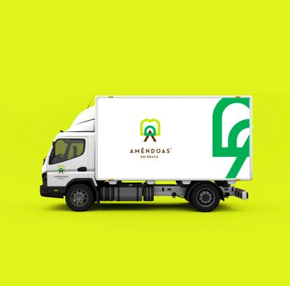 上海品牌策划设计公司分享Amêndoas 农产品品牌形象设计-车辆外观设计