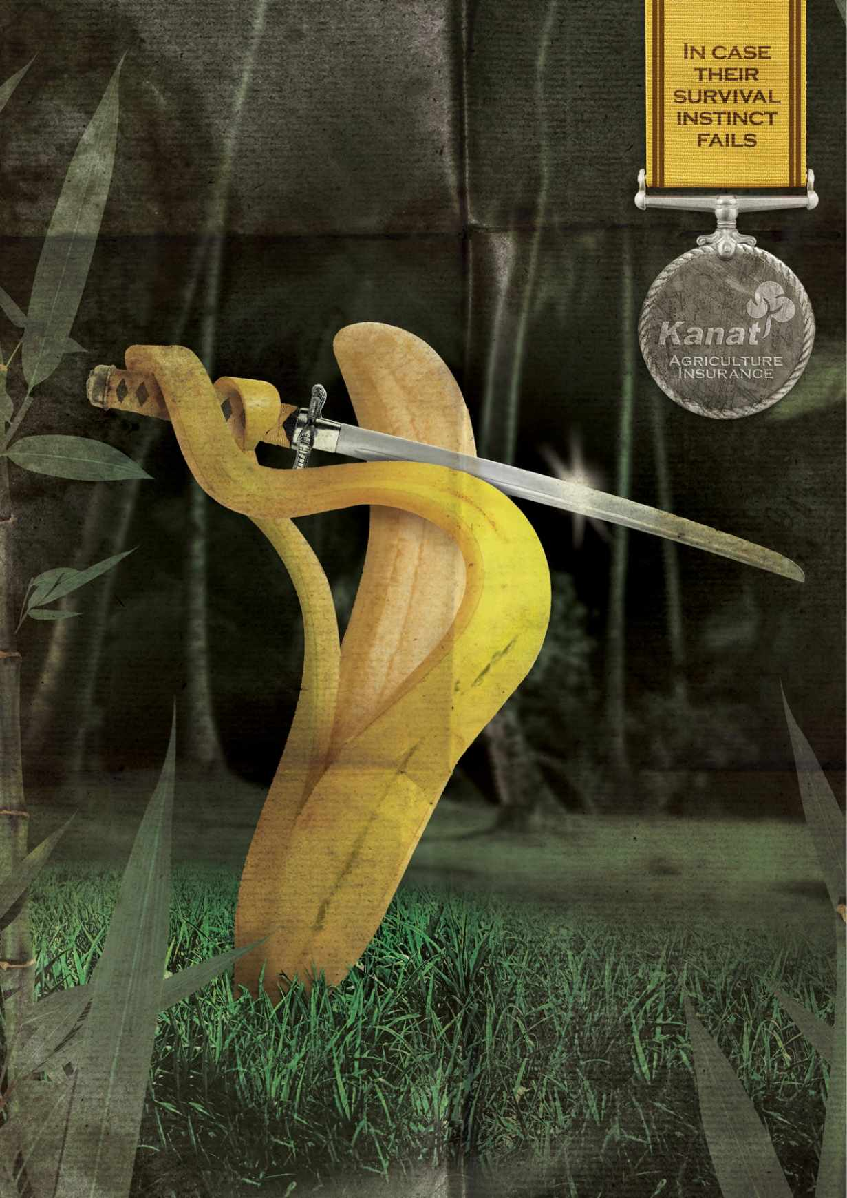 Kanat 农业保险平面创意广告设计香蕉篇-上海尚略广告设计公司平面广告分享