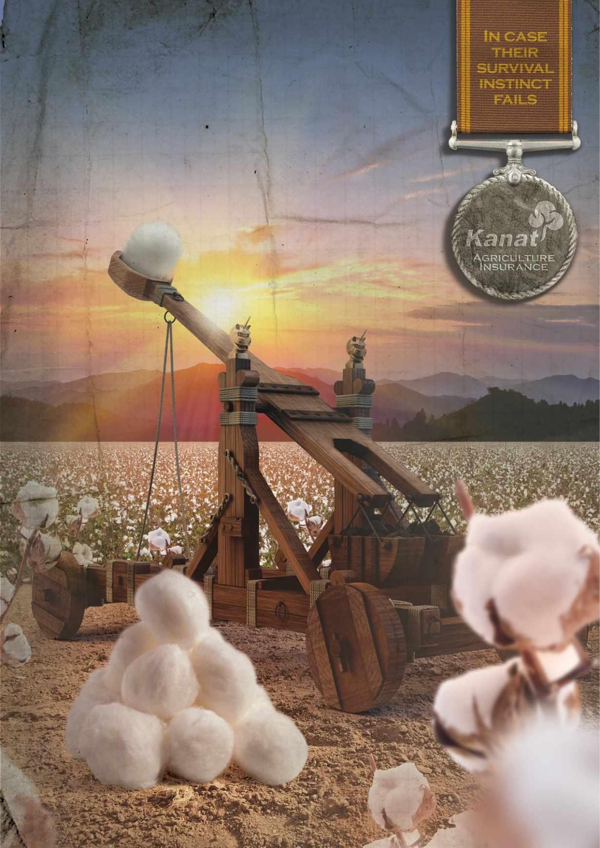 Kanat 农业保险平面创意广告设计棉花篇-上海尚略广告设计公司平面广告分享