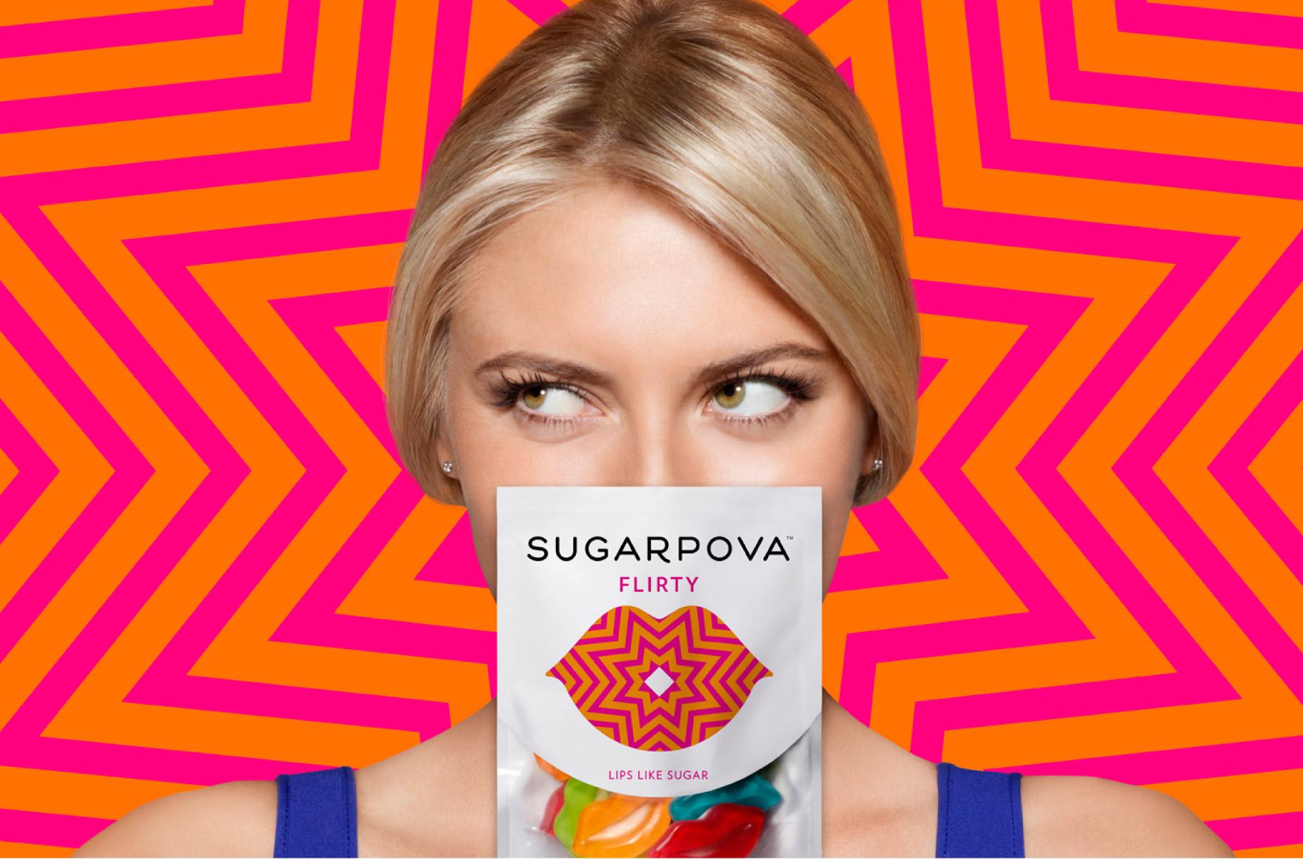 Sugarpova 萨拉波娃糖果店品牌形象设计3-包装设计1-上海品牌策划设计公司分享