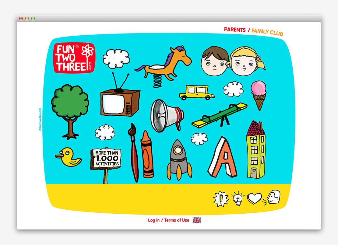 FunTwoThree 儿童网站设计与平面设计-上海平面设计公司设计推荐2
