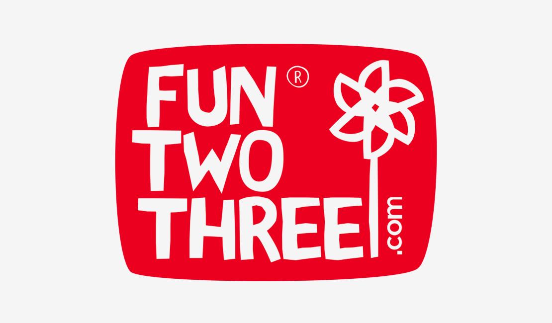 FunTwoThree 儿童网站标志设计-上海平面设计公司设计推荐