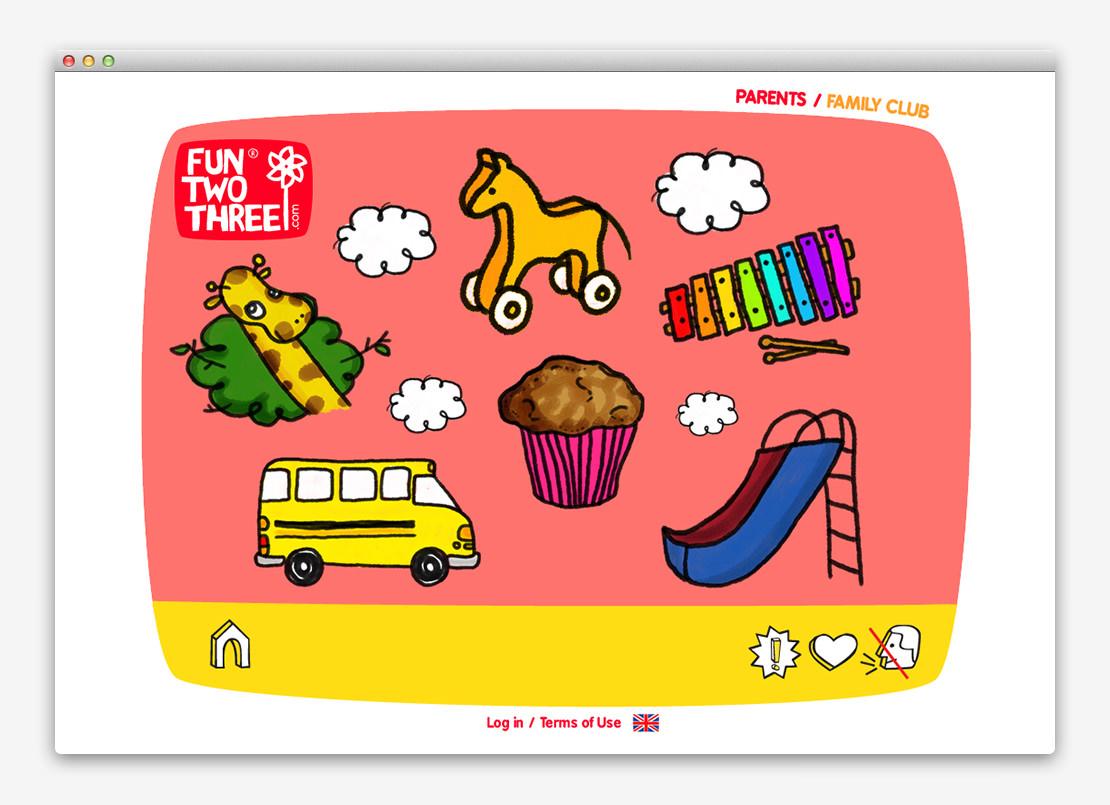 FunTwoThree 儿童网站设计与平面设计-上海平面设计公司设计推荐3