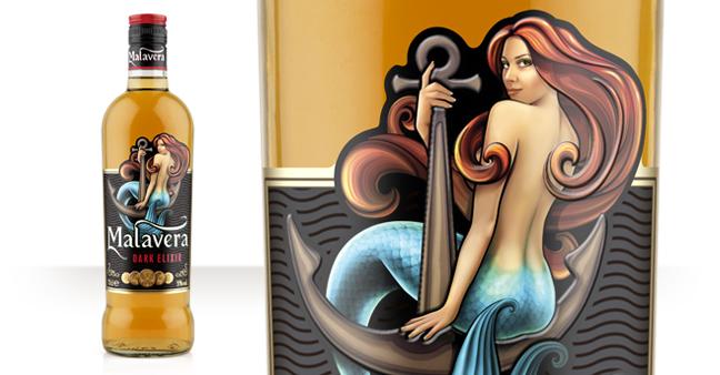 malavera白兰地酒包装设计美人鱼篇-上海品牌策划与包装设计公司分享1