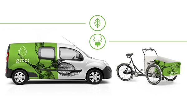groot 有机农场品牌形象设计-配送车辆形象设计