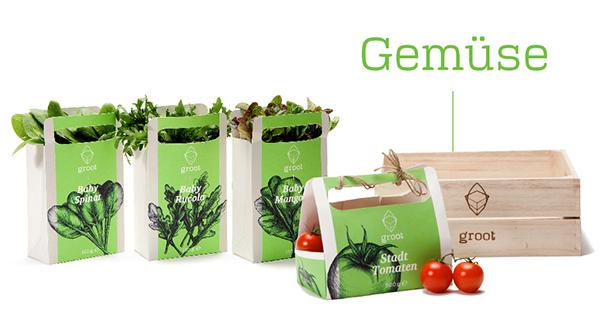 groot 有机农场品牌形象设计-农产品包装设计
