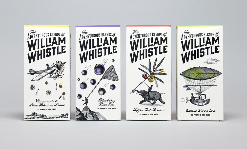William Whistle 茶叶和咖啡品牌包装设计2