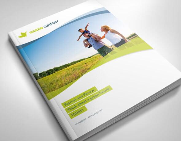 自由清新动感风格优秀企业画册设计版式欣赏-封面设计1