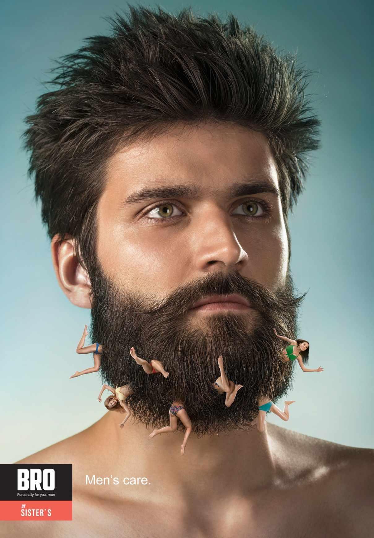 男士护肤品平面广告创意设计图片
