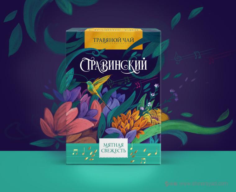 Stravinsky 花果茶草药茶包装设计-上海包装设计公司国外包装设计欣赏4