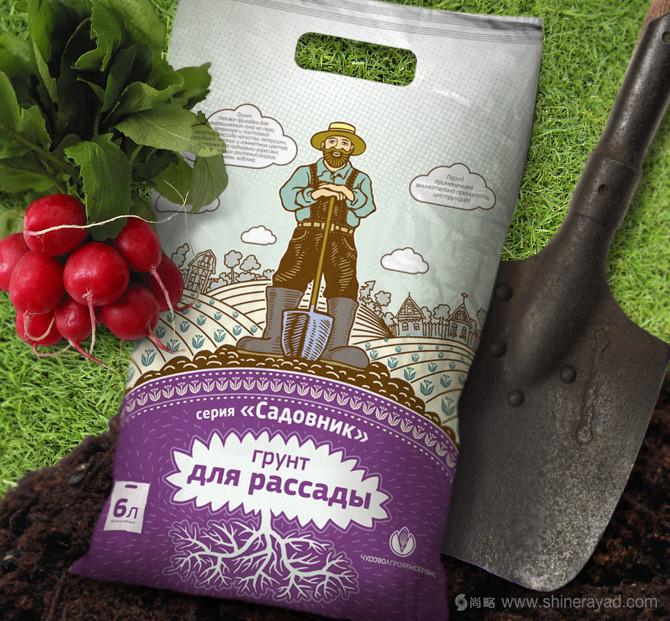 俄罗斯Садовник有机肥料包装设计-上海包装设计公司农业物资化肥包装设计欣赏1-萝卜肥料