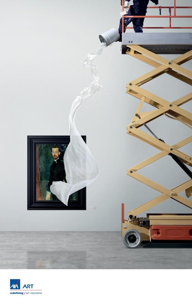 vi系统_AXA 安盛保险艺术篇平面创意广告设计-上海广告设计公司国外金融 ...