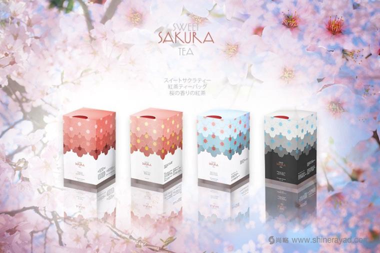 日本甜蜜樱花花茶包装设计-上海包装设计公司国外包装欣赏1