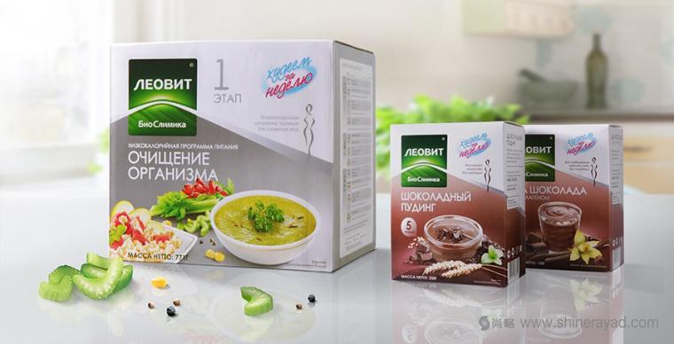 上海包装设计公司欣赏:Леовит减肥代餐瘦身营养套餐包装设计1