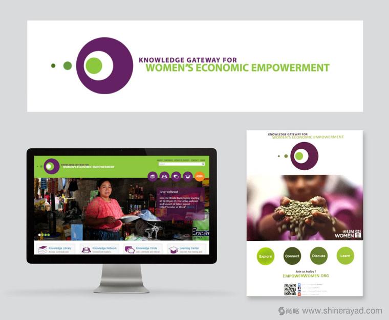 公益机构EmpowerWomen 妇女权益促进会旧品牌形象设计2
