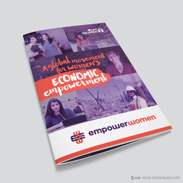 公益机构EmpowerWomen 妇女权益促进会新标志紫色画册设计6