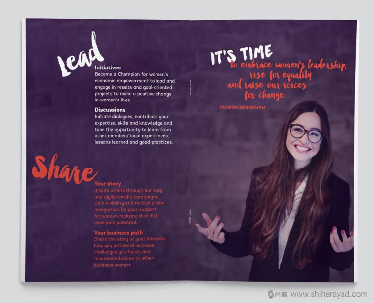 公益机构EmpowerWomen 妇女权益促进会新标志紫色画册设计9