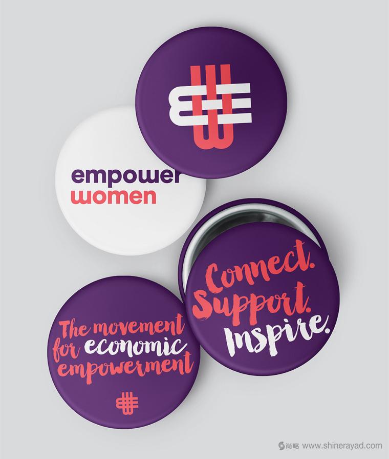 公益机构EmpowerWomen 妇女权益促进会标志设计紫色品牌形象设计10