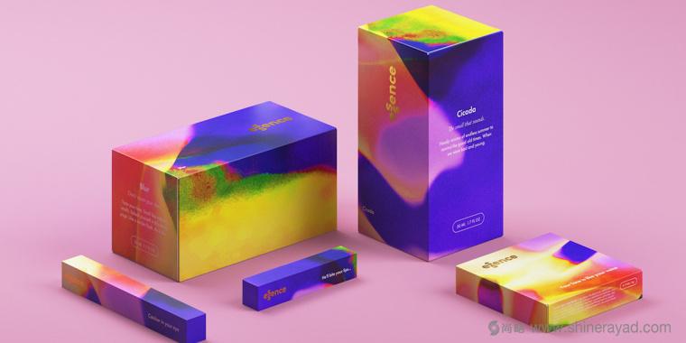 英国化妆品香水品牌Essence水彩风品牌形象设计与包装设计欣赏1