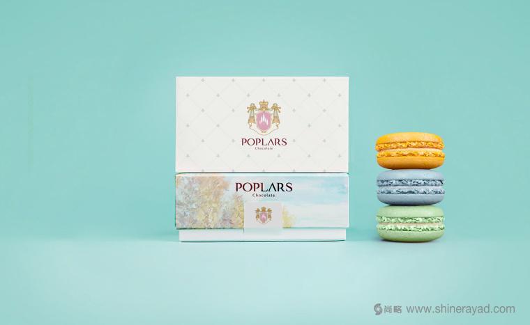 poplars甜品糕点品牌标志设计包装设计-上海品牌策划设计公司设计欣赏