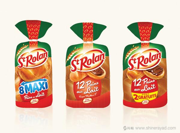 St Rolan 袋装奶油面包品牌包装设计3