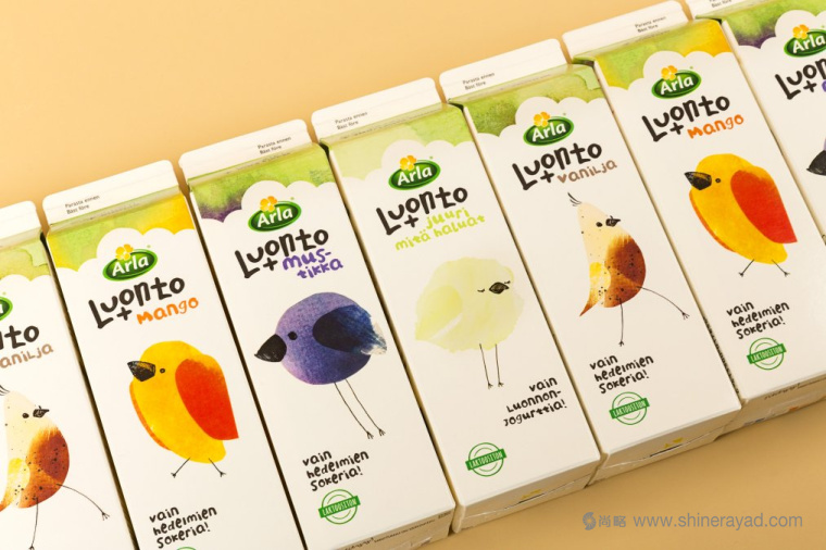rla Luonto+ 儿童有机酸奶包装设计-上海包装设计公司包装设计欣赏1