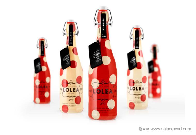 西班牙Lolea 气泡酒包装设计红黄色-上海包装设计公司1