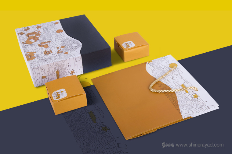 线条插画设计风格 MVV 月饼包装设计-上海包装设计公司7