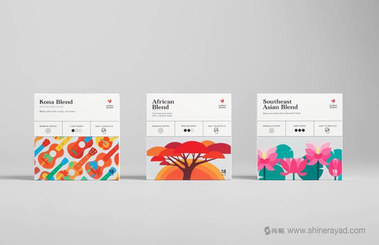 Archer Farms 盒装咖啡包装设计矢量插画风格-上海包装设计公司9