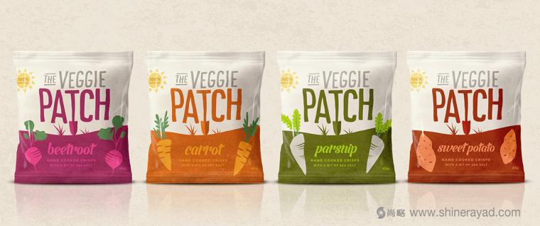 The Veggie Patch 蔬菜干蔬菜干脆片零食包装设计-上海食品包装设计公司3