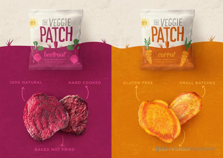 The Veggie Patch 蔬菜干蔬菜干脆片零食包装设计-上海食品包装设计公司5