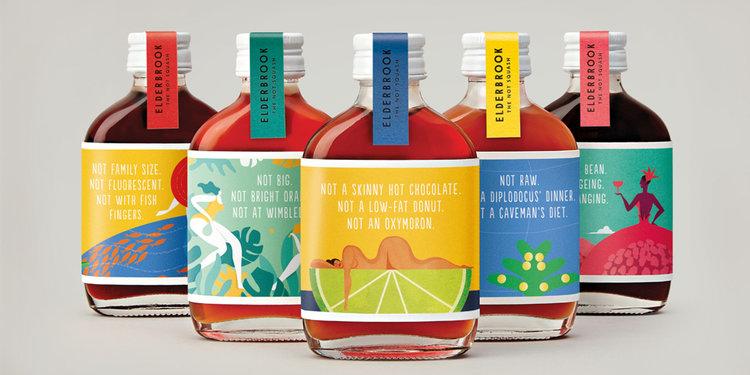 包装欣赏:ELDERBROOK 果汁饮料包装fun88乐天使备用水果与人的结合插画fun88乐天使备用欣赏1
