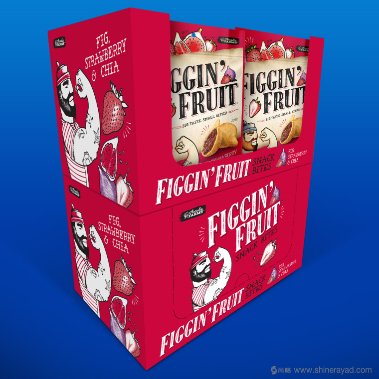 Figgin' Fruit 无花果饼干包装设计船长人物水果插画设计篇-上海食品包装设计公司9