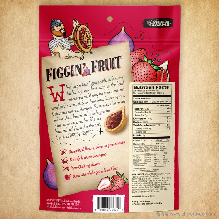 Figgin' Fruit 无花果饼干包装设计船长人物水果插画设计篇-上海食品包装设计公司8