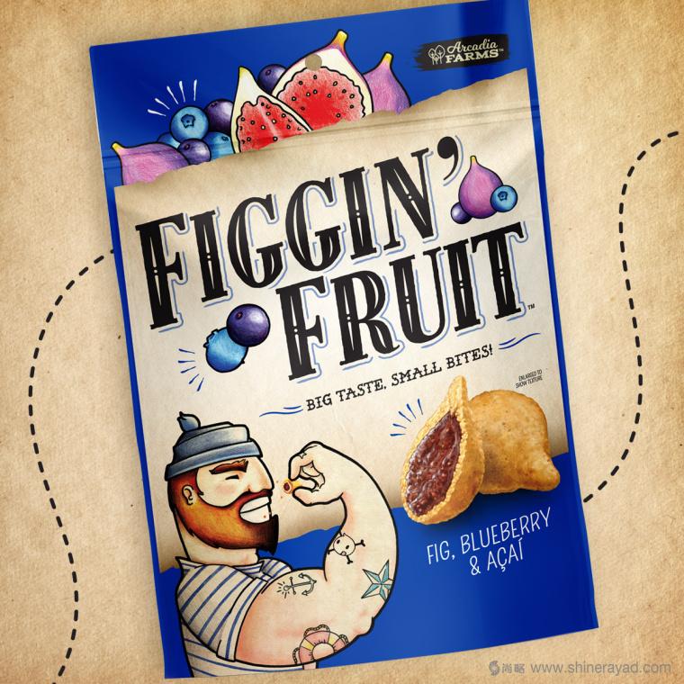 Figgin' Fruit 无花果饼干包装设计船长人物水果插画设计篇-上海食品包装设计公司2