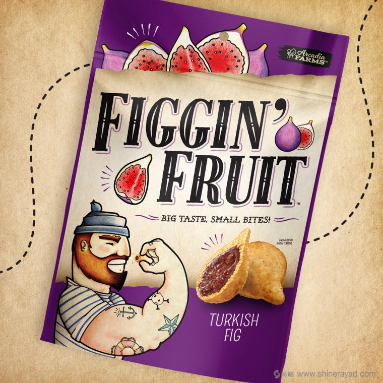 Figgin' Fruit 无花果饼干包装设计船长人物水果插画设计篇-上海食品包装设计公司3