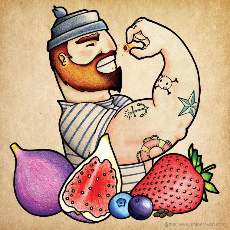 Figgin' Fruit 无花果饼干包装设计船长人物水果插画设计篇-上海食品包装设计公司5
