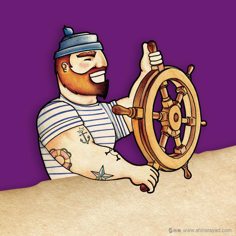 Figgin' Fruit 无花果饼干包装设计船长人物水果插画设计篇-上海食品包装设计公司6