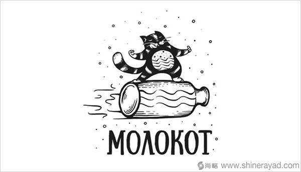 可爱猫元素Logo设计集合——上海Logo设计公司设计灵感