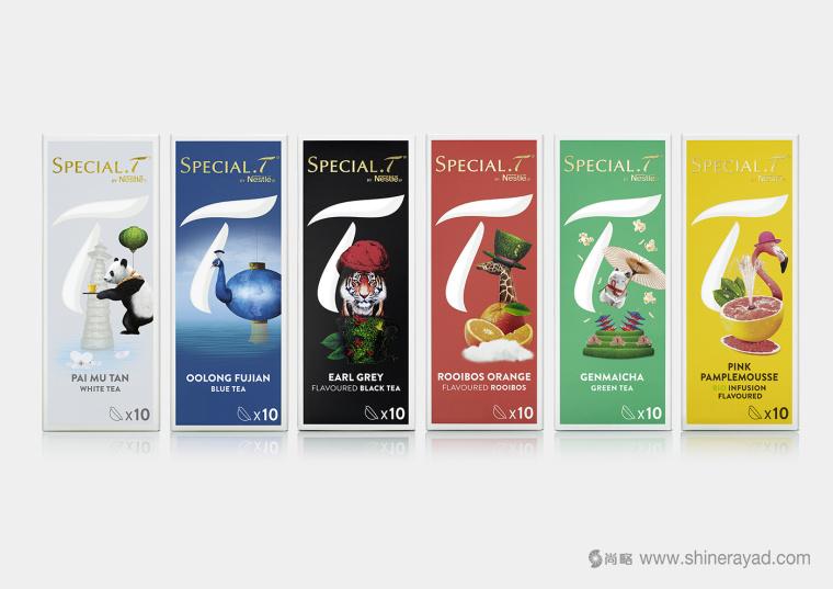 上海包装设计公司欣赏:SPECIAL.T 雀巢优质茶叶胶囊品牌系列包装设计